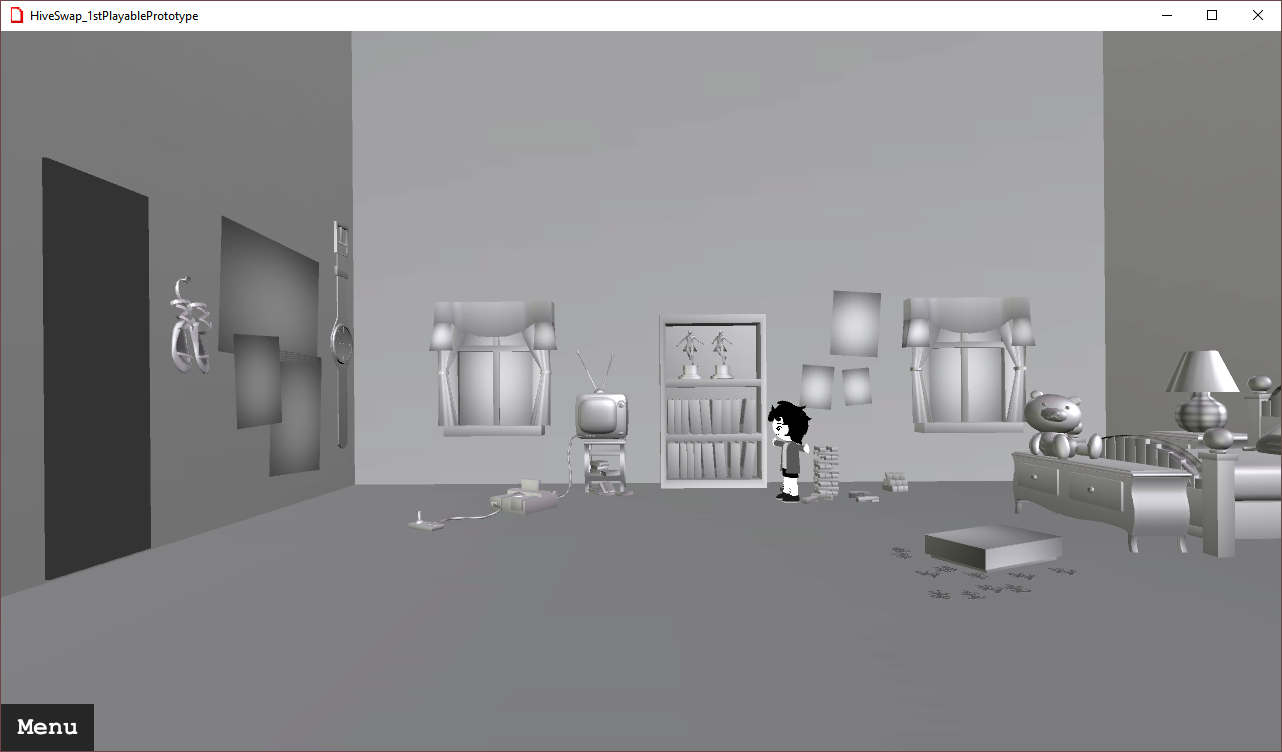 Prototype screenshot: room