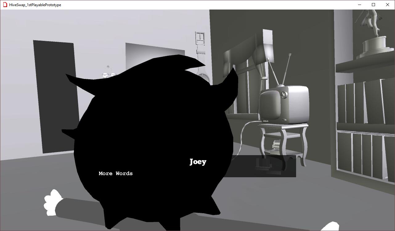 Prototype screenshot: words