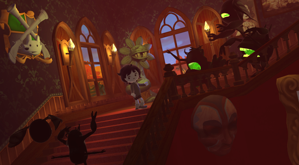 Stairs cutscene