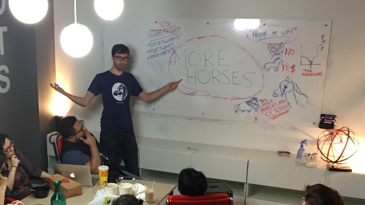 Andrew Hussie at WP NYC offices, june 2015