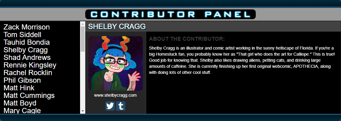 Shelby's contributor blurb